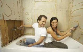 Отделка ванной комнаты гипсокартонном: порядок работы