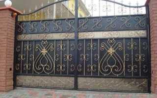 Чем лучше покрасить металлические ворота: краткий обзор красок по металлу