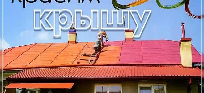 Покраска крыши дома: как и чем сделать