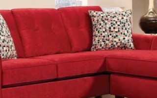 Красный диван (51 фото): черно-красная мебель в интерьере