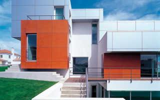 Облицовка фасада алюминиевыми панелями: вентфасады