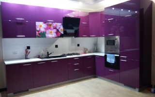 Какие подобрать обои для фиолетовой кухни