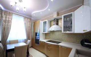 Потолок на кухне из гипсокартона: дизайн натяжного потолка с подсветкой, как сделать потолок из гипсокартона, отделка фигурного потолка