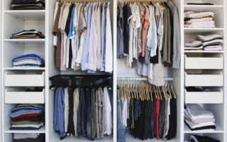 Поддержание порядка в шкафу: идеи и советы