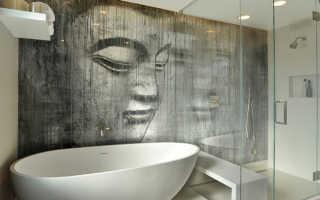 Отделка стен в ванной: виды материала