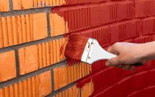 Как выполняется покраска кирпичной стены