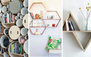 Полки на стену деревянные: какие стоит выбрать