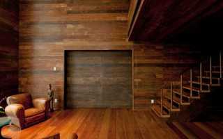 Как выполняется обшивка деревом стен