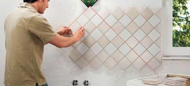 Облицовка керамической плиткой с клеем: технология работ