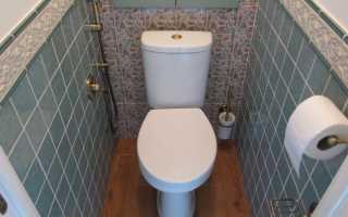 Отделка туалета панелями и другими видами материала