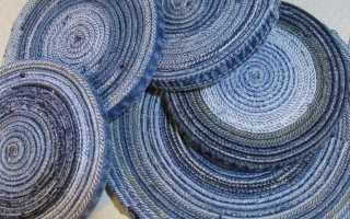 Самодельные коврики из старых джинсов: пригодится женщинам спицами