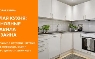 Белая кухня: дизайн и 99 фото интерьеров кухни в белом цвете