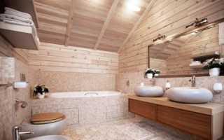Отделка ванной в деревянном доме: идеи для ремонта и дизайна