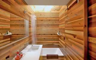 Отделка ванной комнаты деревом: выбор материала