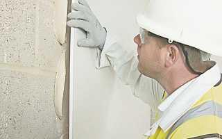 Как крепить гипсокартон на стены без каркаса