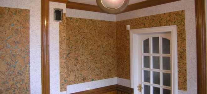 Как используется для стен пробка