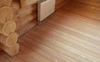 Устройство и отделка полов в деревянном доме