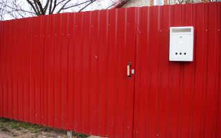Как закрепить профлист на заборе: выбор фурнитуры, схема сборки