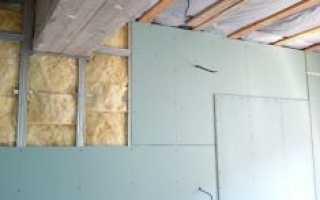 Утепление стен изнутри минватой плюс гипсокартон: часть 1