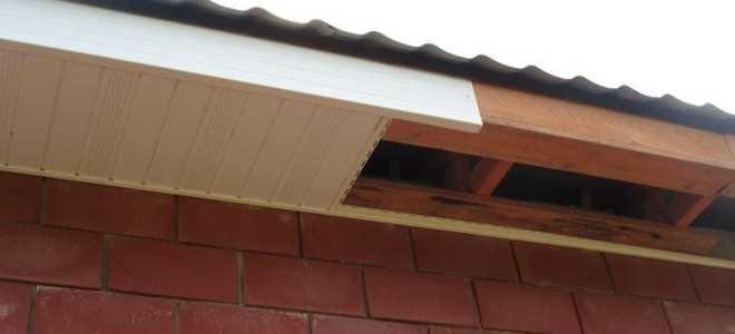 Карниз крыши: как делается отделка сайдингом