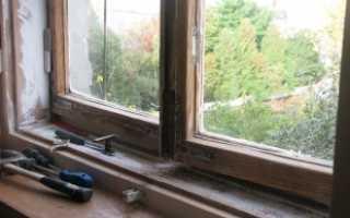 Как убрать старую краску с оконной рамы?