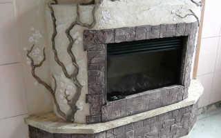 Декоративная отделка каминов: применяем штукатурку