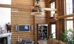 Как оформить стены рубленные деревянные