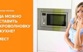 Где поставить микроволновку на кухне: 8 хороших мест