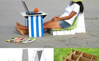 Мебель из картона ручной работы: 7 мастер-классов на столах, стульях и полках