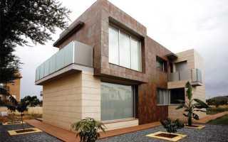 Облицовка керамогранитной плиткой фасада