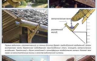 Металлические водостоки для крыши: установка своими руками