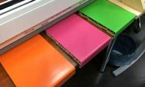 Как и чем покрасить пластиковый подоконник