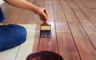 Как выполняется покраска деревянного пола своими руками