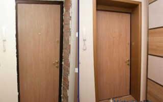 Отделка дверного проема входной двери:выбираем материал