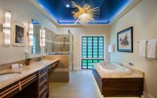 Освещение ванной: как правильно расположить свет в ванной (фото)